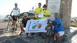 Erinnerungsfoto mit dem portugiesischen Verband für Fahrradtourismus FPCUB am westlichsten Punkt Europas und dem Start der Eurasia Challenge: Cabo da Roca.