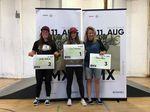 Die Gewinnerinnen der Girlsklasse bei der 1. offenen BMX-Landesmeisterschaft von Sachsen-Anhalt