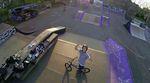 Finn Maurer hat seine Drohne in den Himmel von Darmstadt geschickt, um ein paar Clippies von Nico Dietz im BMX- und Skatepark an der Stadtmauer zu filmen.