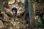 Chris Kovarik im Wurzel-Stein-Feld auf dem Garganzo Trail! © Dave Trumpore