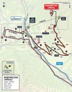 Die Zielkarte der 18. Etappe des Giro d