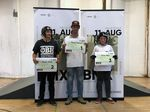 Die Gewinner der Amateurklasse bei der 1. offenen BMX-Landesmeisterschaft von Sachsen-Anhalt