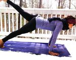 Yoga Plank Snow Ski
