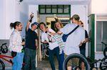 Partypeople in da house auf der FTS-Premiere in Frankfurt