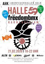 Kölle Alaaf! Der alljährliche freedombmx X Halle 59 Karnevalsjam steigt in diesem Jahr am 21. Februar von 18-22 Uhr in den AbenteuerHallenKALK