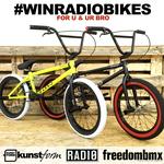 Jetzt teilnehmen und gewinnen! In Kooperation mit dem kunstform BMX Shop verlosen wir zwei Radio Bikes Darko 2016 Kompletträder für dich und deinen Bro.