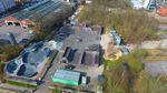 Der Schlachthof BMX- und Skatepark in Flensburg von oben
