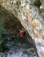 "Chaehyeon Seo in der Route ""Bad Girls Club"" (9a) in Rifle, Colorado 