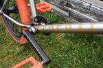 Unterrohr von Dan Laceys Signaturerahmen auf Federal Bikes