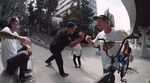 Nathan Williams und Agus Gutierrez haben es sich während der Dreharbeiten zum Champagne-Video von Kink BMX in Madrid extra hart gegeben.