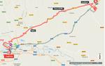 Die 40,2 km lange Strecke kann an den Kraften der Fahrer zehren. (Quelle: GEOAtlas)