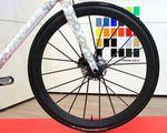 Auf der Eurobike 2014 konnten wir eine schnell wachsende Anzahl an Rädern mit Scheibenbremsen sehen. Das Z-Zero Disc wurde mit einem Prototyp-Set von Lightweight Meilenstein-Laufrädern ausgestattet.