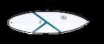 Das Kanoa Battery verfügt über ein Squash Tail.