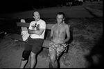 Zwei deutsche BMX-Legenden unter sich: Detlef Richter (links) und Wolfgang Fritscher, der 2015 leider ebenfalls verstorben ist, auf der WM 1992 in Ungarn; Tausend Dank für alles, was ihr für BMX in Deutschland getan habt, ihr werdet schmerzlich vermisst! Foto: Kay Clauberg
