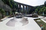 Einer von zwei Bowls im neuen Betonpark von Luxemburg