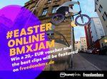 Beim Easter Online BMX Jam gibt es 50 Einkaufsgutscheine vom kunstform BMX Shop zu gewinnen und die besten Clips werden von uns gefeaturet.