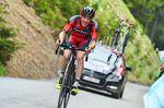 Brent Bookwalter gibt alles und war einer von vier Teamkameraden, die innerhalb einer Minute nach Contador im Ziel ankamen. Foto: Sirotti