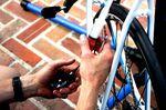 Shimano R785 hydraulic disc brake, brake caliper and syringe, pic: Timothy John, ©Factory Media