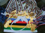 Anne Caroline Chausson... not a bad haul of medals and titles!