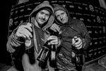 Direkt aus dem Schneetreiben zu den Awards: Felix Donat (links) und Felix Lange aka Flexter Long aus Karlsruhe