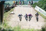 Eines der hart umkämpften Rennen der Elite Herren mit Simon Waldburger, Ingo Schegk, Mirco Weiss und Udo Pradler. ©Egelmair Photography