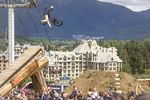 Nicholi Rogatkin performs a tailwhip to barspin during the finals of the Red Bull Joyride event in Whistler, Canada on August 16th, 2015. Photo: Scott Serfas/Red Bull Content Pool