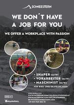 Die Firma Schneestern sucht Shaper, Vorarbeiter und Maschinisten für den Bau von Bike- und Skateanlagen