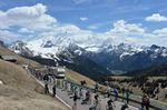 Die Königsetappe führte durch die Dolomiten und forderte die Profis mit sechs Bergen bis auf das äußerste. Foto: Sirotti
