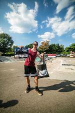 Der Gewinner der Best-Trick-Wertung des BMX Männle Turniers 2018: Luc Morat