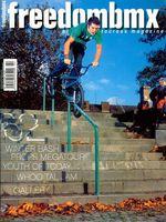 freedombmx Ausgabe 62: Max Gaertig hat schon 2004 Hanger to Crankarm Rails runter gemacht