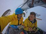Hervé Barmasse und David Göttler am Shishapangma - Foto: The North Face