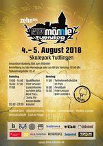 Der Zeitplan für das BMX Männle Turnier vom 4. bis 5. August 2018 im Skatepark Tuttlingen