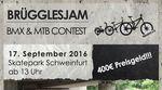 Beim Brügglesjam 2016 im Skatepark Schweinfurt gibt es am 17. September 2016 insgesamt 400 Euro Preisgeld und haufenweise Sachpreise zu gewinnen.