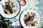 Van Life Camping Recipe Mackerel Couscous Harissa Bon Appetit