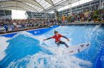 """Lukas Brunner OPEN MEN of 5th European Championship in """"Stationary Wave Riding"""" 2015 at the Munich Airport, Germany"""