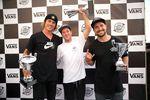 Sergio Layos (Mitte) hat am vergangenen Wochenende den 1. Lauf des Vans BMX Pro Cups in Sysdney vor Dennis Enarson (links) und Larry Edgar gewonnen