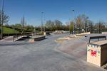 Der Streetparcours im Skatepark von Karlsruhe