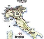 Die Strecke des Giro d