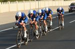 Quick-Step Floors (hier als Etixx - Quick Step bei den Welmeisterschaften in Qatar) wollen ihren Titel als Welmeister im Mannschaftszeitfahren verteidigen. (Foto: Sirotti)