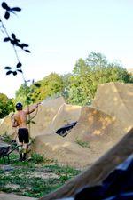 Michael Hanfler pflegt die Hügel im Bremer AWO Funpark mehr als alles andere