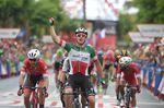 Elia Viviani (Quick-Step Floors) siegt auf der 3. Etappe der Vuelta a Espana 2018 im Schlusssprint in Alhaurin De La Torre (Foto: Sirotti)