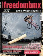 Corey Martinez auf dem Cover von freedombmx 107- In derselben Ausgabe hatte er auch ein Interview