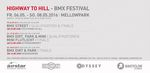 Der Zeitplan für den Highway to Hill 2016 vom 6.-8. Mai im Mellowpark Berlin