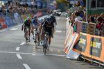 In einem beherzten Schlussprint konnte sich Gianni Mosocon (Team Sky) von den Verfolgern absetzen uns sicherte sich den dritten Platz. (Foto: Sirotti)