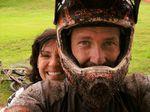 Biken gehört immer noch zu seinen Leidenschaften, hier mit seiner Frau Stacy