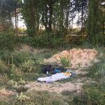 Einer von Jonas Deichmanns typischen Schlafplätzen unterwegs. Vor seiner Abreise verriet er uns, dass er am liebsten unter freien Himmel übernachte.