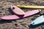 "Safe Surfing Equipment: safe soft-top surfboards or ""foamies"" for beginners"