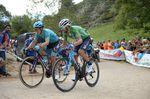 Alejandro Valverde (Movistar) wurde zweiter und liegt mit 20 Sekunden Rückstand hinter Yates auf Platz zwei der Gesamtwertung. Teamkollege Nairo Quintana verteidigte seinen dritten Platz. (Foto: Sirotti)