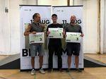 Die Gewinner des Flatlandcontests bei der 1. offenen BMX-Landesmeisterschaft von Sachsen-Anhalt