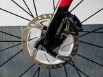 Für das Vorderrad kommt beim getesteten Kiaro eine 160er-Scheibe zum Einsatz. Foto: Arian Schlichenmayer